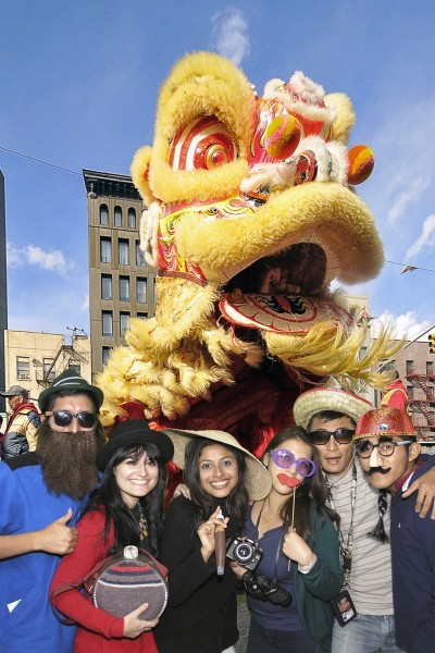Friends celebrate Chinese new year in parade!