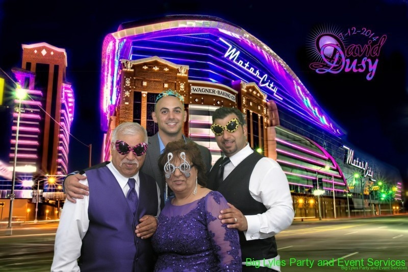 Family out front Detroit Motor City Casino
