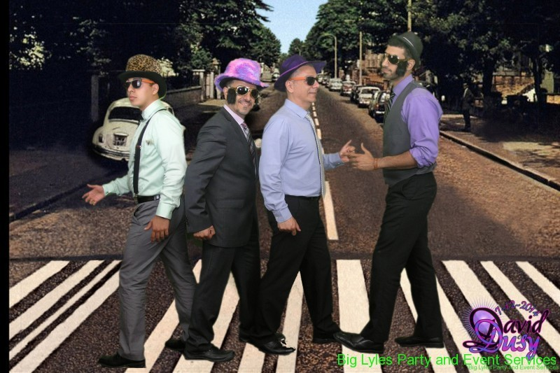 walking on Abby Road