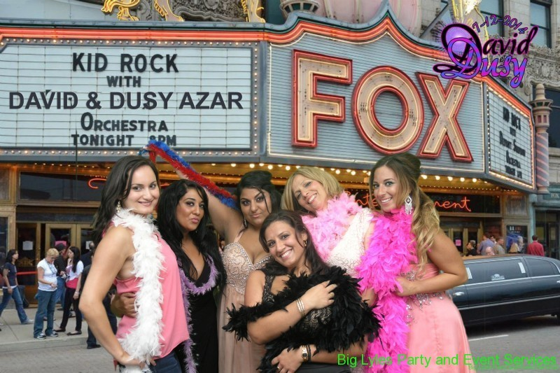 wedding party in front of FOX theater, Detroit
