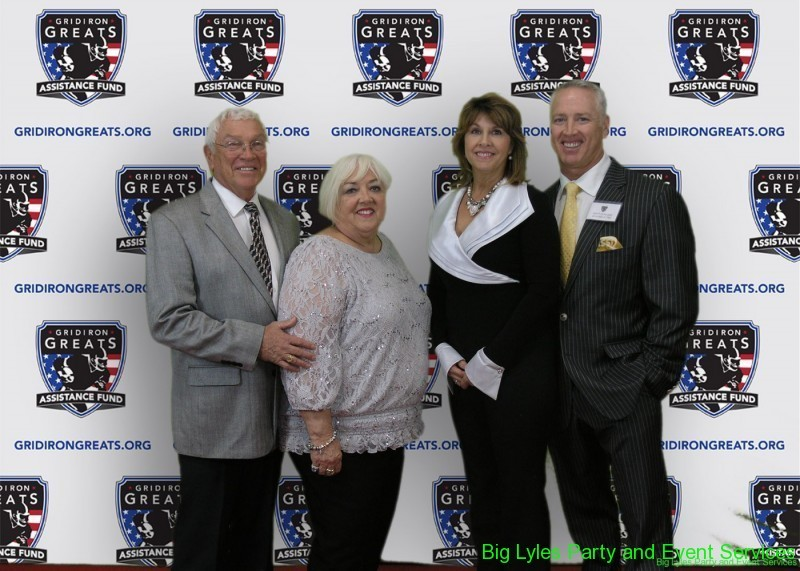 Members with wife's  on the Red Carpet at 2014 Detroit Gridiron greats event