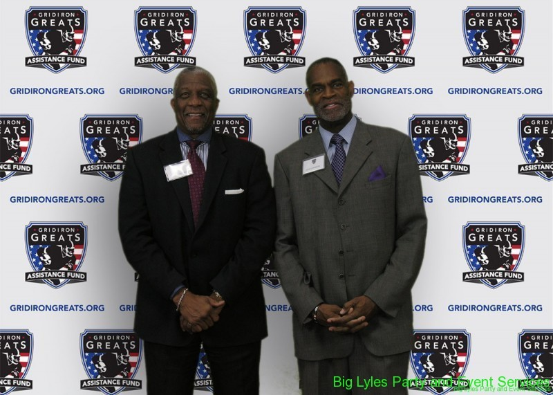 Foot Ball Greats  on the Red Carpet at 2014 Detroit Gridiron greats event