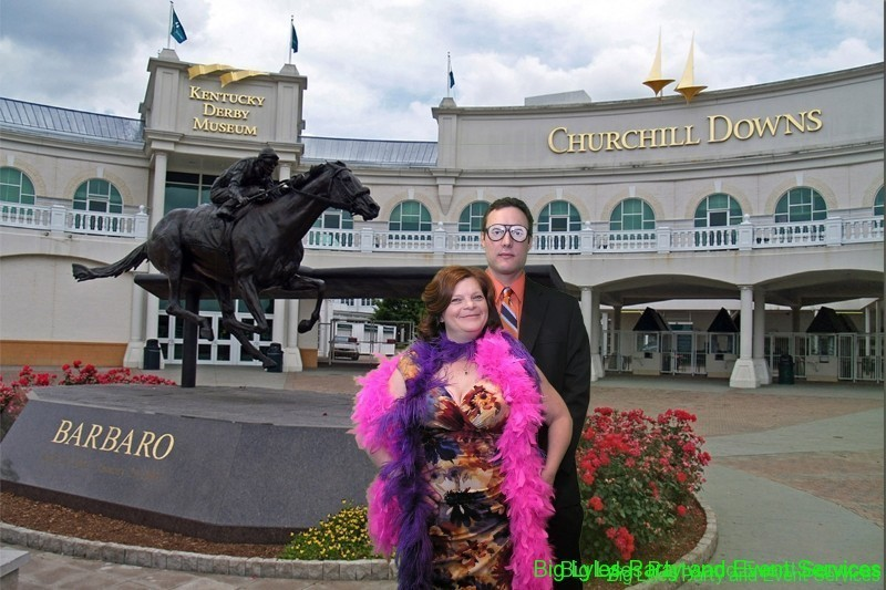 Couple at horse track-Green screen photo