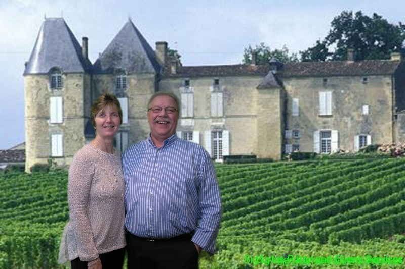 couple in front of castel