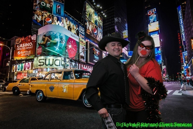 couple in Time Square