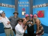 crazy kids in the news room