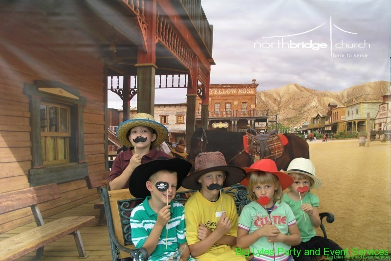 group of kids in a western town
