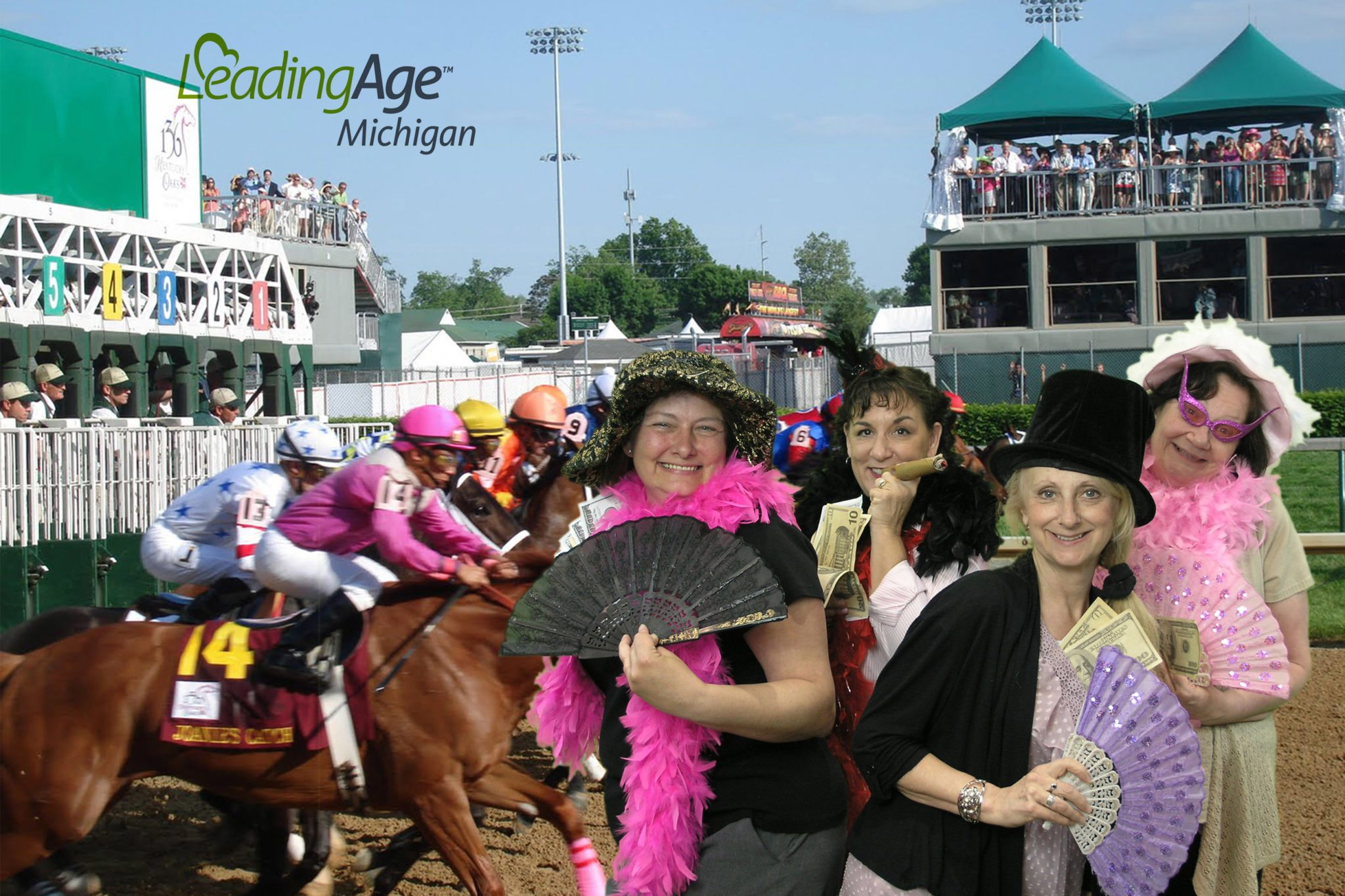 Ladies at the horse track
