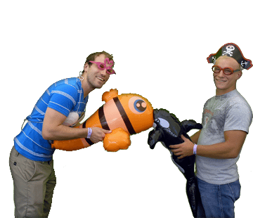 Two guys with fish