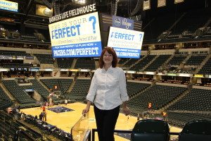 Ann Webster in the Bankers Life FieldHouse